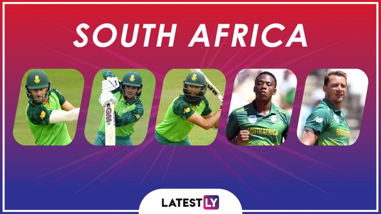 ICC Cricket World Cup 2019: Faf du Plessis, Hashim Amla and Other Key Players in the South Africa Team for CWC