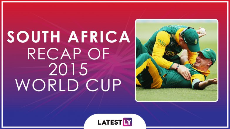 Ahead of ICC Cricket World Cup 2019, Here's a Look Back at How South Africa Fared at the Last Edition of the CWC