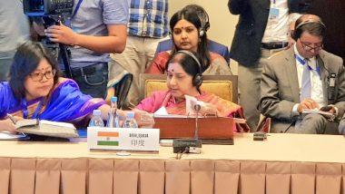 Sushma Swaraj Refers to Pulwama Terror Attack at SCO Meet