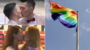 Taiwan Celebrates Same-Sex Marriage! Watch Video of Gay and Lesbian Couples Happily Exchanging Marital Vows