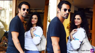 Pregnant Gabriella Demetriades and Arjun Rampal Pose for the Paps As They Head for a Lunch Date! View Pics