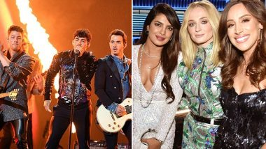 2019 BBMAs: The Jonas Brothers Perform to 'Sucker' but Its Sophie Turner, Priyanka Chopra Jonas, Danielle Jonas Who Steal the Show (Watch Video)