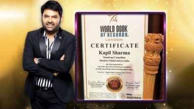 Kapil Sharma Gets Honoured by the World Book of Records for Being One of the Most Viewed Stand-Up Comedians in India