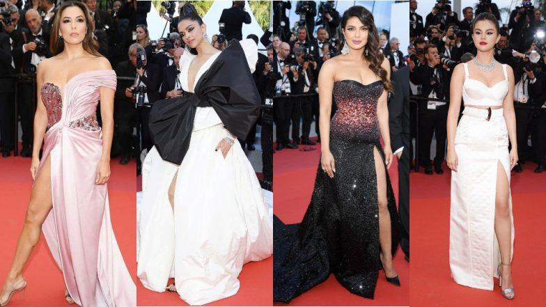 Priyanka Chopra, Deepika Padukone, Selena Gomez, Eva Longoria - Check Out All The Risqué Thigh-High Slit Gowns At The 2019 Cannes Film Festival Red Carpet
