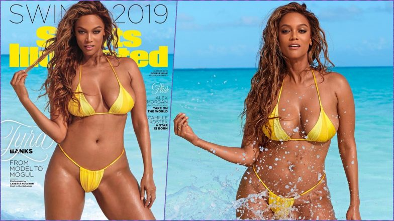 Tyra Banks Leaves Little to Imagination in a Yellow Microkini on Sports Illustrated Swimsuit Cover (View Pics)