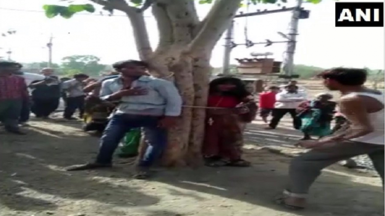 Madhya Pradesh: Man, 2 Cousin Sisters Tied to Tree and Thrashed in Dhar District; 5 Held