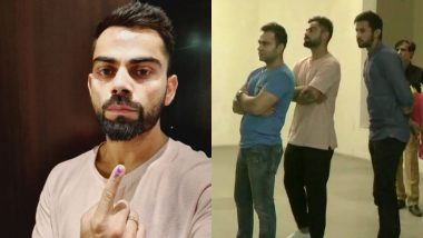Lok Sabha Elections 2019 Phase 6: Virat Kohli Casts Vote in Gurugram, Appeals For High Turnout (View Pics)