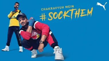 Virat Kohli 'Lets His Bat Do the Talking' in Puma's New Campaign #SockThem With DIVINE Rapping (Watch Video)