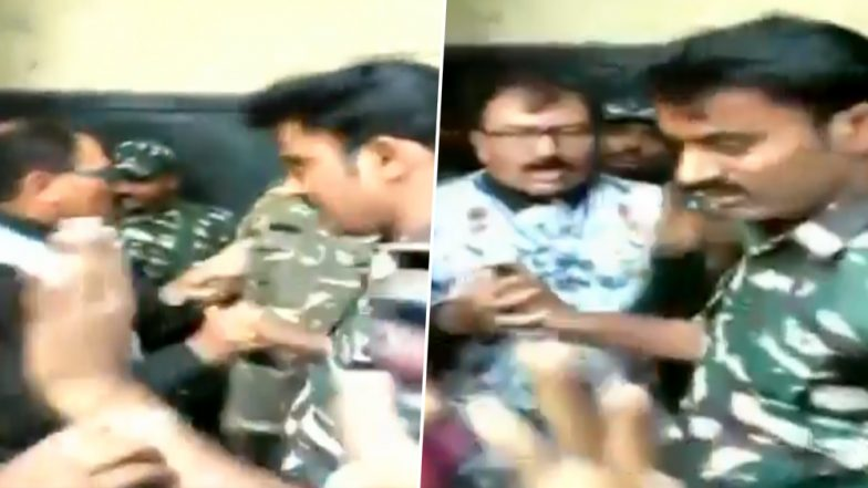 TMC MP Prasun Banerjee, Security Forces Clash at Howrah Polling Booth, Watch Video