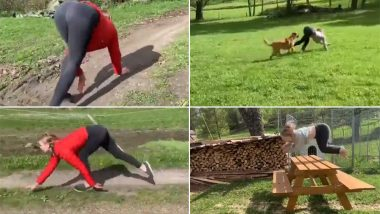 Norwegian Woman Runs and Jumps Like a Horse Flawlessly, Becomes an Internet Sensation! (Watch Viral Videos)