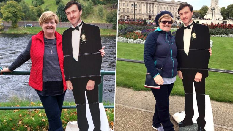 Australian Woman Keeps Promise to Husband Who Died of Cancer by Travelling the World With a Cardboard Cutout of Him (See Pictures)