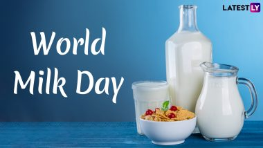World Milk Day 2020 Date & Theme: Know History, Importance and Significance of the Day Dedicated to Nutrient-Rich Liquid Food