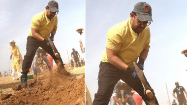 Aamir Khan Celebrates Maharashtra Day and Labour Day by Doing 'Shramdaan' in Satara - Watch Videos