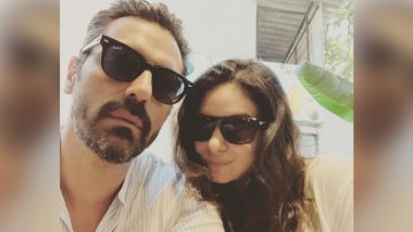Arjun Rampal and Gabriella Demetriades Twin in a Pair of Sunglasses to Beat the Summer Heat – View Pic