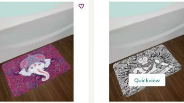 After Amazon, Wayfair Under Fire For Selling Bath Mats Depicting Hindu Gods