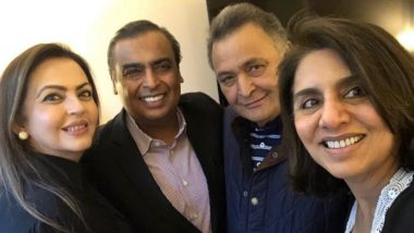 Mukesh Ambani and Wife Nita Meet Actor Rishi Kapoor Receiving Treatment in US