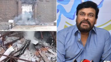 Chiranjeevi's Farmhouse Gutted in Fire, Sye Raa Narasimha Reddy Film Sets Damaged (Watch Video)