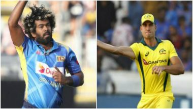 ICC Cricket World Cup 2019: Lasith Malinga Helps Marcus Stoinis with Art of Slower Ball After Sri Lanka vs Australia Warm-up Match