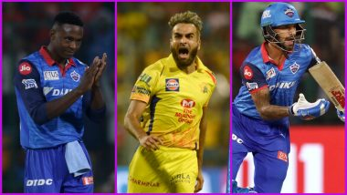 CSK vs DC, IPL 2019 Match 50, Key Players: Kagiso Rabada, Imran Tahir, Shikhar Dhawan and Other Cricketers to Watch Out for MA Chidambaram Stadium