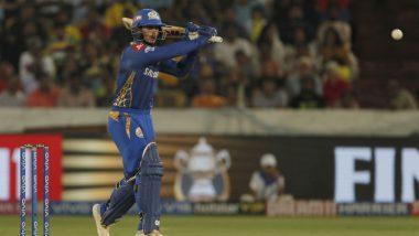 MI vs CSK IPL 2019 Final: Quinton de Kock Smashes Deepak Chahar for Three Sixes in 1 Over, Watch Video Highlights