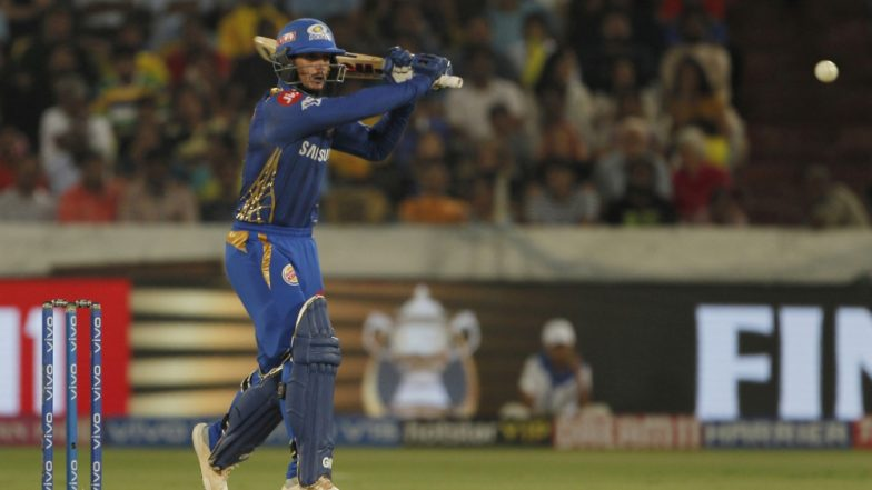 MI vs CSK IPL 2019 Final: Quinton de Kock Smashes Deepak Chahar for Three Sixes in 1 Over, Watch Video Highlights