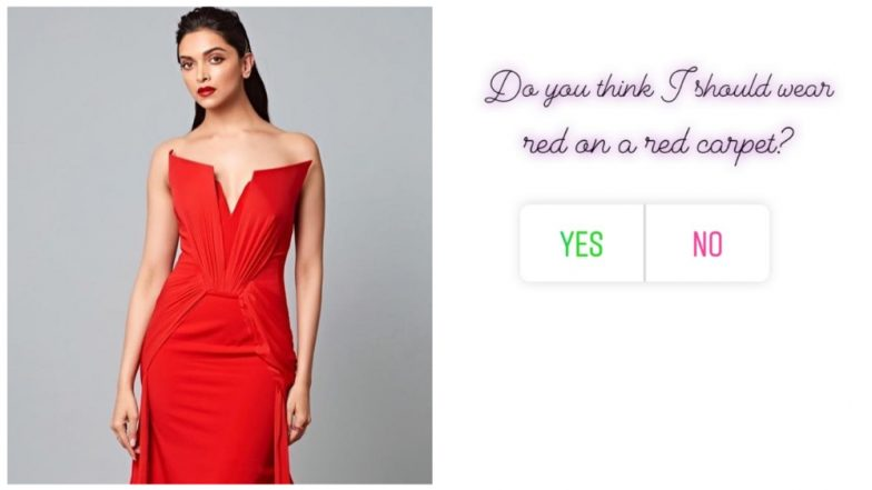 Cannes 2019: Deepika Padukone Asks Fans Whether She Should Wear 'Red' on the 'Red Carpet!