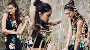 Erica Fernandes Looks Chic in Black Floral Dress as She Poses for a Photoshoot (View Pics)
