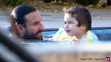 Taimur Ali Khan Is Splashing Water All Over the Summer Heat With Saif Ali Khan – View Pics