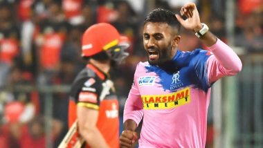 Shreyas Gopal Hat-Trick Video: Watch Rajasthan Royals Spinner Dismiss Virat Kohli, AB de Villiers and Marcus Stoinis in a Row