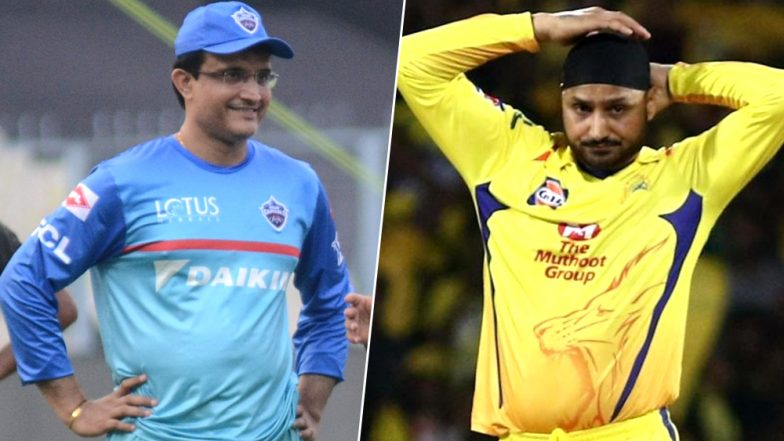 Ahead of CSK vs DC IPL 2019 Qualifier 2 Delhi Capitals Mentor Sourav Ganguly Was Seen Bonding With Chennai's Spinner Harbhajan Singh (View Pic)