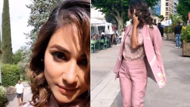 Cannes 2019: Hina Khan's First Pictures in a Pink Pantsuit Make Us Curious to See Her Red Carpet Look