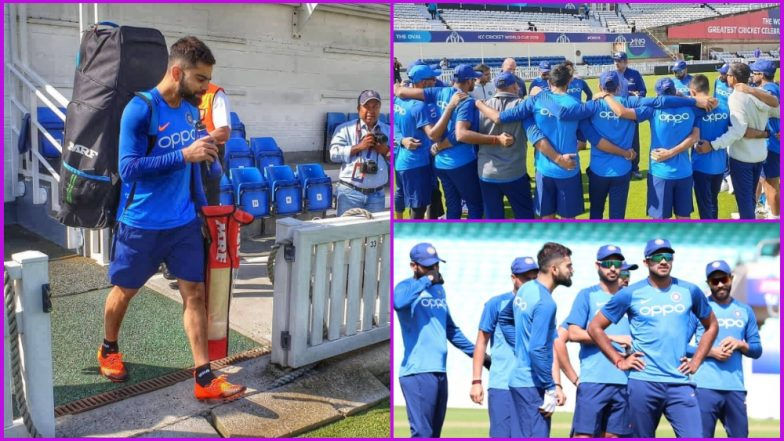 Virat Kohli and Co Begin Training Ahead of ICC Cricket World Cup 2019 Warm-up Match Against New Zealand