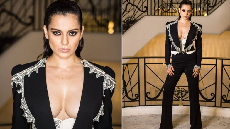 Cannes 2019: Kangan Ranaut Goes All Out in a Bold Black Pantsuit at the After Party - See Pics!