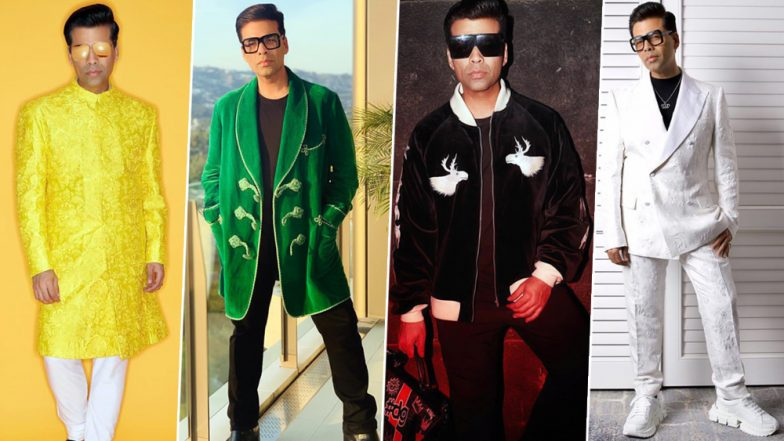 Karan Johar Birthday Special: His Colourful Wardrobe Should be a Bible for all the Men Out There