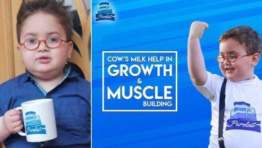 Cute 'Peeche Dekho' Kid, Ahmed Shah Is Now the Brand Ambassador of a Pakistani Milk Company 'Purelait'! Check Adorable Pics and Video