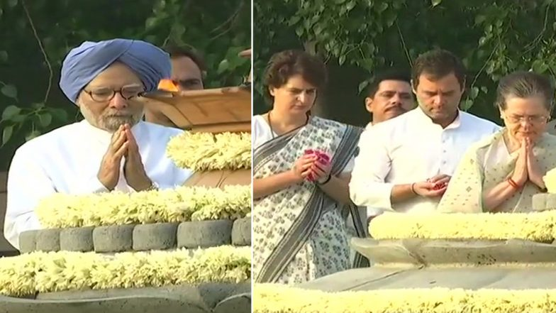 Rajiv Gandhi 28th Death Anniversary: PM Narendra Modi, Rahul Gandhi, Sonia Gandhi, Manmohan Singh and Other Leaders Pay Tributes to Former PM of India