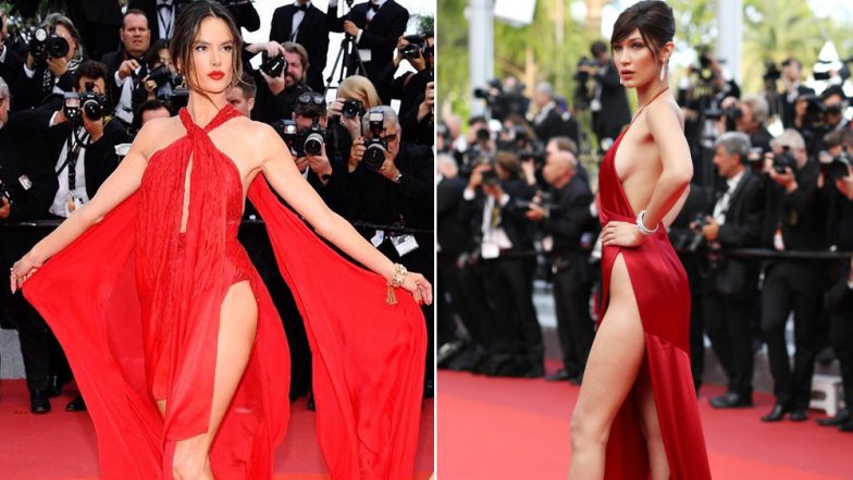 Alessandra Ambrosio's Naked Dress at Cannes 2019 is Stunning, But It Reminds Us of Bella Hadid's 2016 Outing (View Pics)