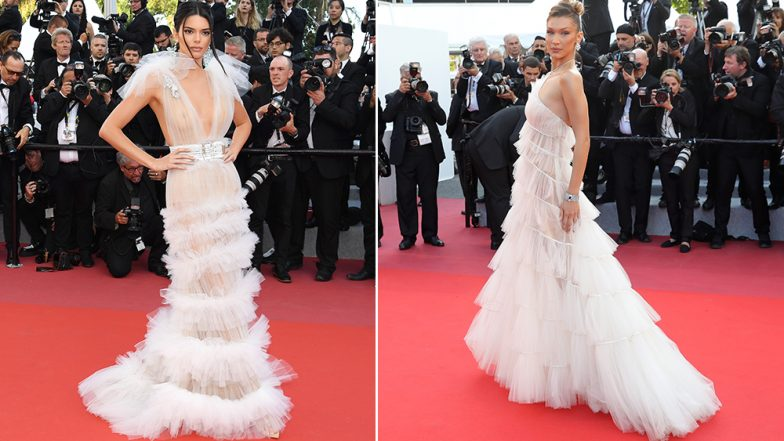 Bella Hadid's Cannes 2019 Dior Gown Reminds Us of Kendall Jenner's Nipple-Flashing Dress From 2018