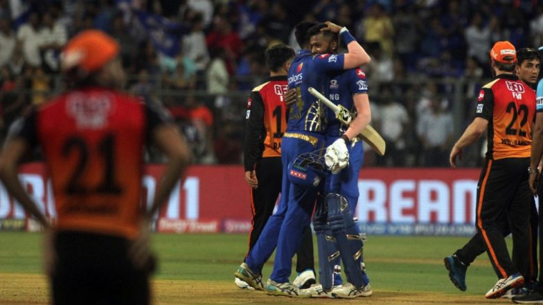 MI vs SRH Stat Highlights IPL 2019: Mumbai Indians Qualify for Playoffs After Super Over Win Against Sunrisers Hyderabad