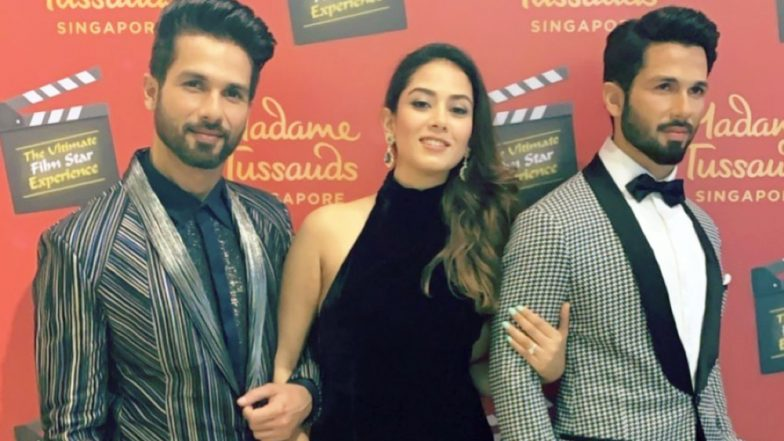 Mira Rajput Says 'Taking Mine Home' Posing With Shahid Kapoor and His Wax Figure - View Pic!