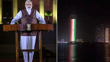 Abu Dhabi Lights Up Adnoc Group Tower With Indian And UAE Flags To Celebrate Modi's Swearing-In