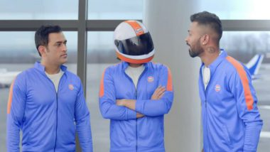 MS Dhoni Introduces Mystery Man to Hardik Pandya Ahead of ICC Cricket World Cup 2019 in This Latest Ad, Watch Video