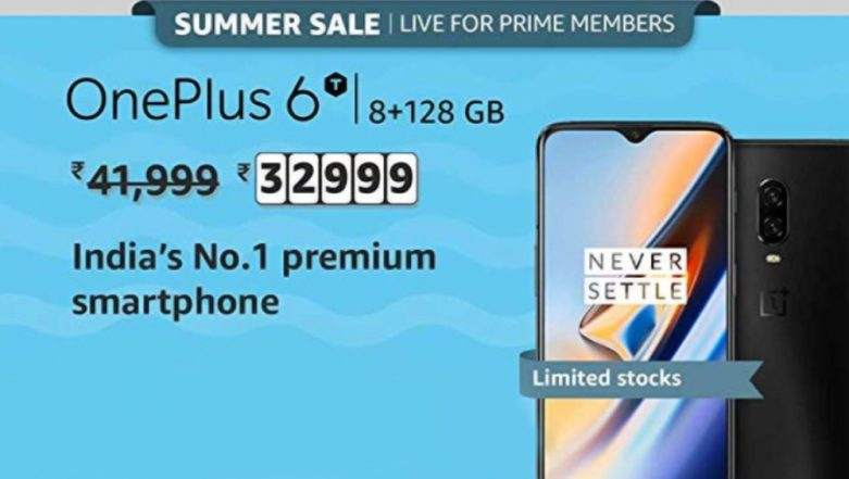 Amazon Summer Sale 2019: OnePlus 6T 8GB RAM Variant Now Available At Rs 32,999 For Prime Members