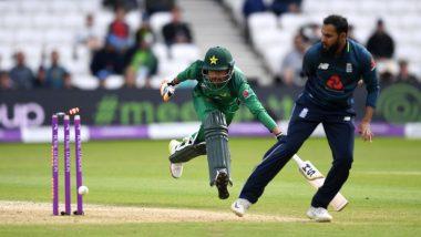 Adil Rashid Pulls Off Superb No-Look Run-Out to Dismiss Pakistan's Babar Azam, Watch Video