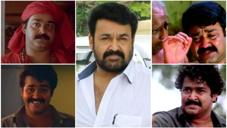 Mohanlal Birthday Special: 5 Comic Roles and 5 Tragic Performances of the Malayalam Superstar That Will Mesmerise You Forever! (Watch Videos)