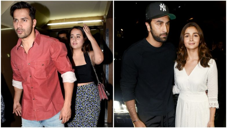 It's a Date Night for Ranbir Kapoor - Alia Bhatt and Varun Dhawan - Natasha Dalal (View Pics)