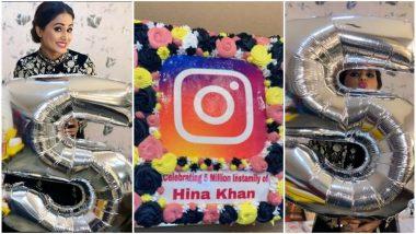 Hina Khan Celebrates 5 Million Followers on Instagram – Watch Video