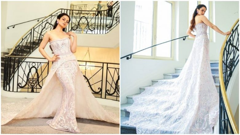 Cannes 2019: After Rocking a Kanjeevaram Saree, Kangana Ranaut Sets the Temperature Soaring in her Michael Cinco Gown - View Pics