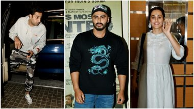 India's Most Wanted: Abhishek Bachchan, Taapsee Pannu Attend Special Screening of Arjun Kapoor's Film! See Pics
