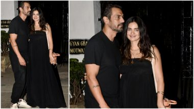 Parents-to-Be Arjun Rampal and Gabriella Demetriades Twin in Black at Abhishek Kapoor-Pragya Yadav's Anniversary Bash! See Pics
